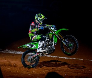 Eli Tomac competes in the 2015 Monster Cup race.