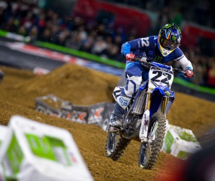 Chad Reed competes in the 2016 SX season in Atlanta.
