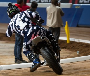 Jared Mees in action at the 2015 Superprestigio