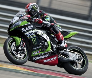 Jonathan Rea at the 2016 World Superbike Aragon round