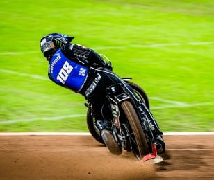 Photoshoot images of Speedway star Tai Woffinden