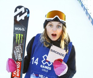 Emma Dahlstrom competing at the European Open in Laax, Switzerland