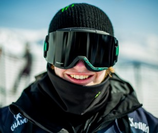 Luca Schuler competes in the 2015 European Freeski Open.