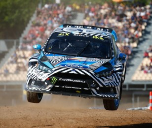 Saturday images from round two of the FIA World Rallycross Championship in Germany, Saturdays images