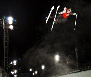 Devin Logan competes in the US Grand Prix in Mammoth.