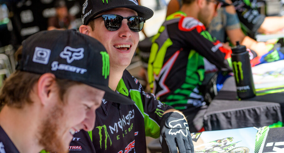 Monster athletes compete at the 2018 Supercross stop in Salt Lake CIty