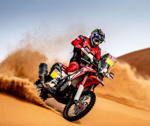 Jose Ignacio Cornejo at the 2019 Dakar HRC Shoot