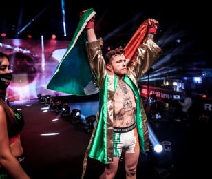 James Gallagher vs. Cal Ellenor in Bellator Europe 9 in Allianz Cloud in Milan, Italy on October 3, 2020.